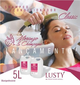 Lusty Classic Shampoo Profissional (Morango & Champagne) 5 L