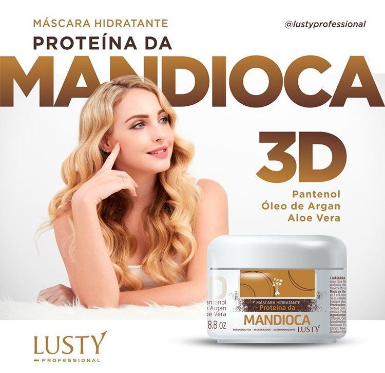 Máscara Hidratante 3D MANDIOCA-LUSTY (Proteína da Mandioca) - 250gr ou 500 gr