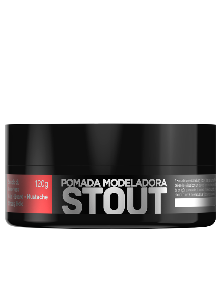 Stout  Premium - Pomada Modeladora Profissional - 120 g
