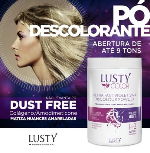 Ultra Fast Violet Sw4 Discolour Powder  - Pó Descolorante Profissional  (400 G)