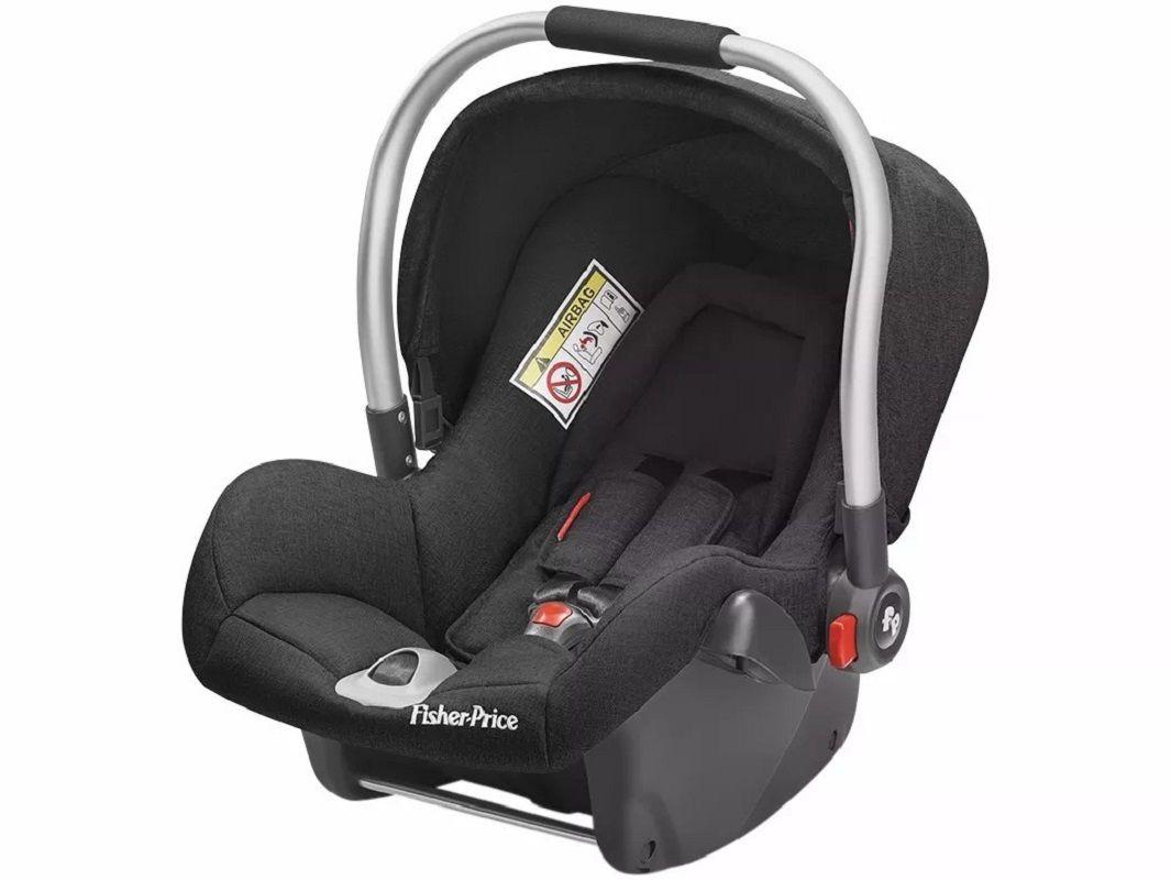 Bebê Conforto Heritage Fix Fisher Price Preto