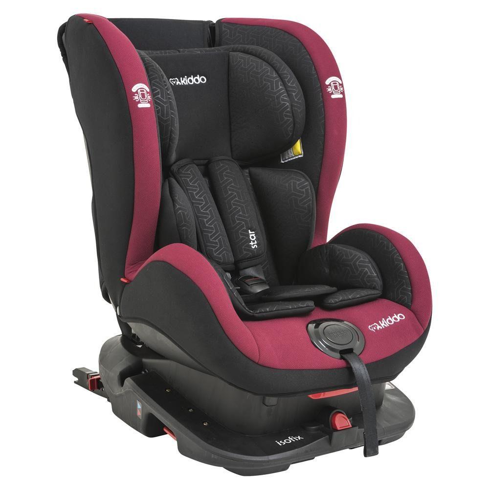 Cadeira Para Carro Star Com Isofix Kiddo Vermelho