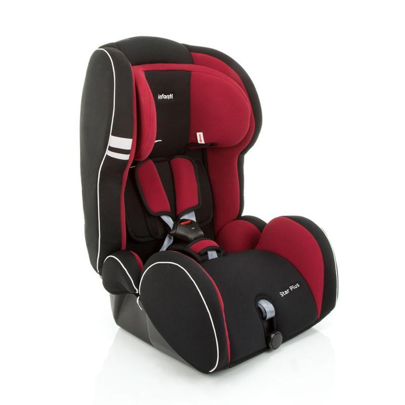 Cadeira Para Carro Star Plus Infanti 09 a 36 kg Preto/Vermelho