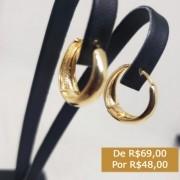 BRINCO DE ARGOLA PEQUENA BANHADO AO OURO 18 K