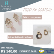 BRINCO DE PEDRAS E BRINCO BANHADO