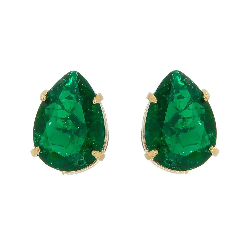 Conjunto com Pedras Fusion Verde Esmeralda