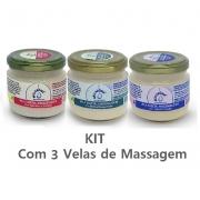 Kit Velas Vegetais Massageadoras - cada uma com 100g