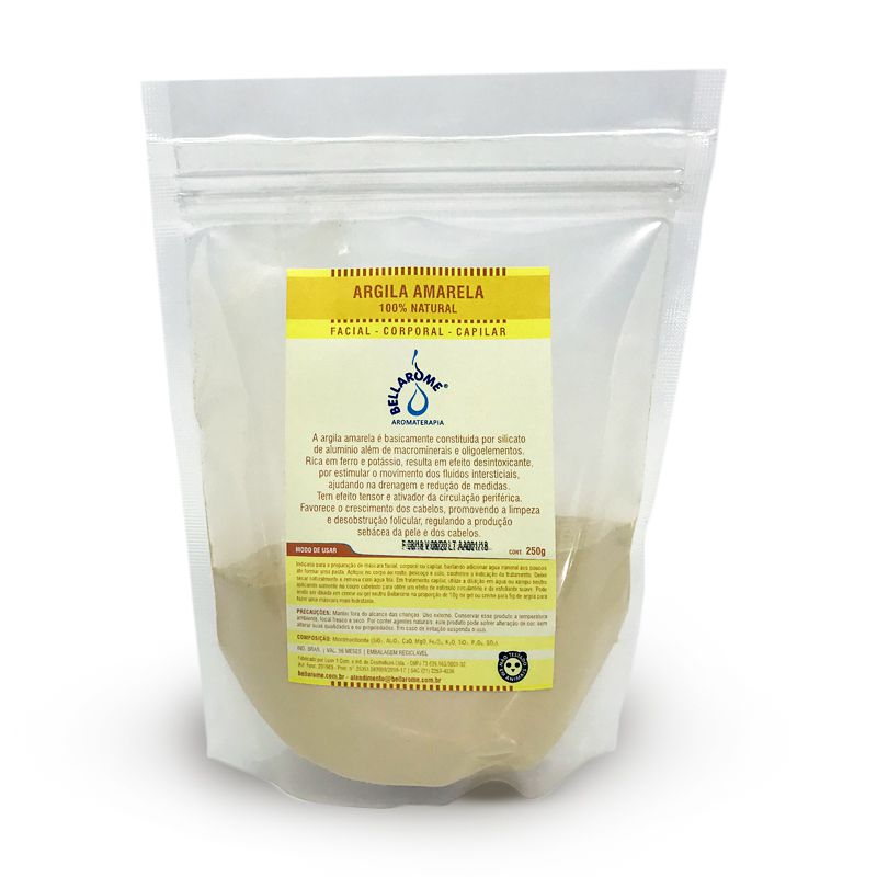 ARGILA AMARELA - 1000g  - Bellarome Aromaterapia