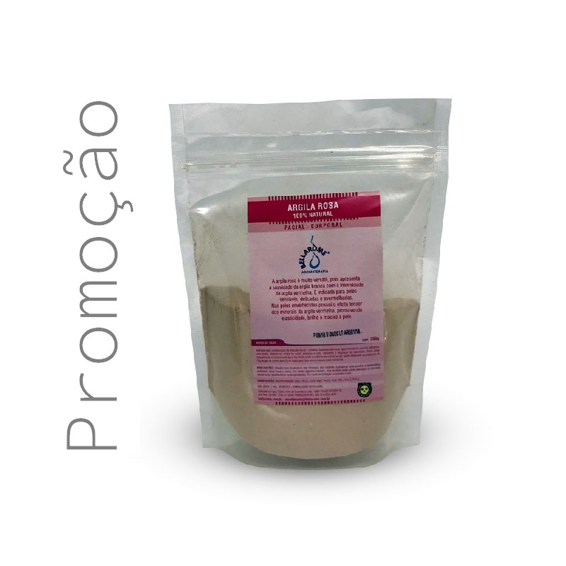 ARGILA ROSA - 250g  - Bellarome Aromaterapia