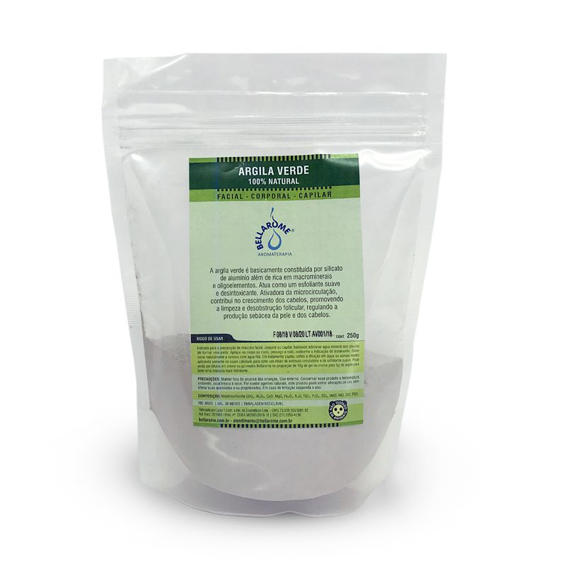 ARGILA VERDE - 1000g  - Bellarome Aromaterapia