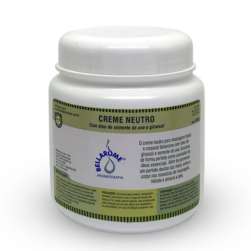 Creme Neutro - 1000g  - Bellarome Aromaterapia