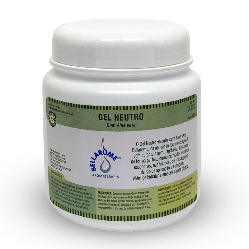 Gel Neutro - 500g  - Bellarome Aromaterapia