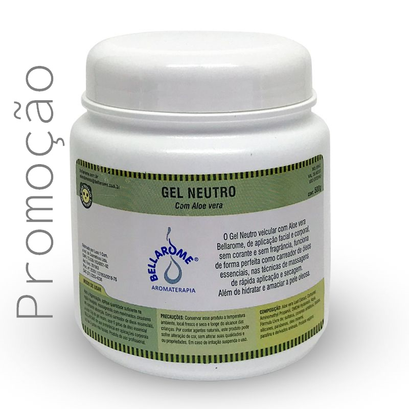 Gel Neutro - 500g  - Bellarome Aromaterapia