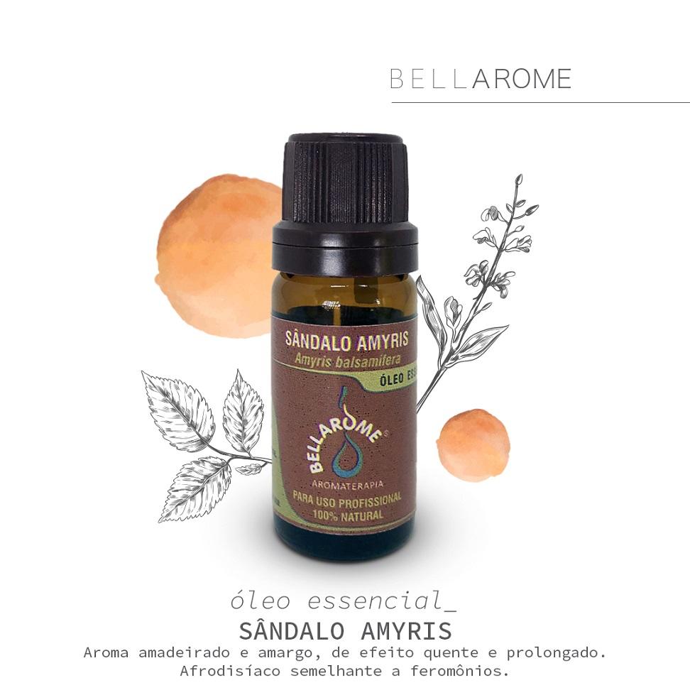 SÂNDALO AMYRIS - 10ml  - Bellarome Aromaterapia