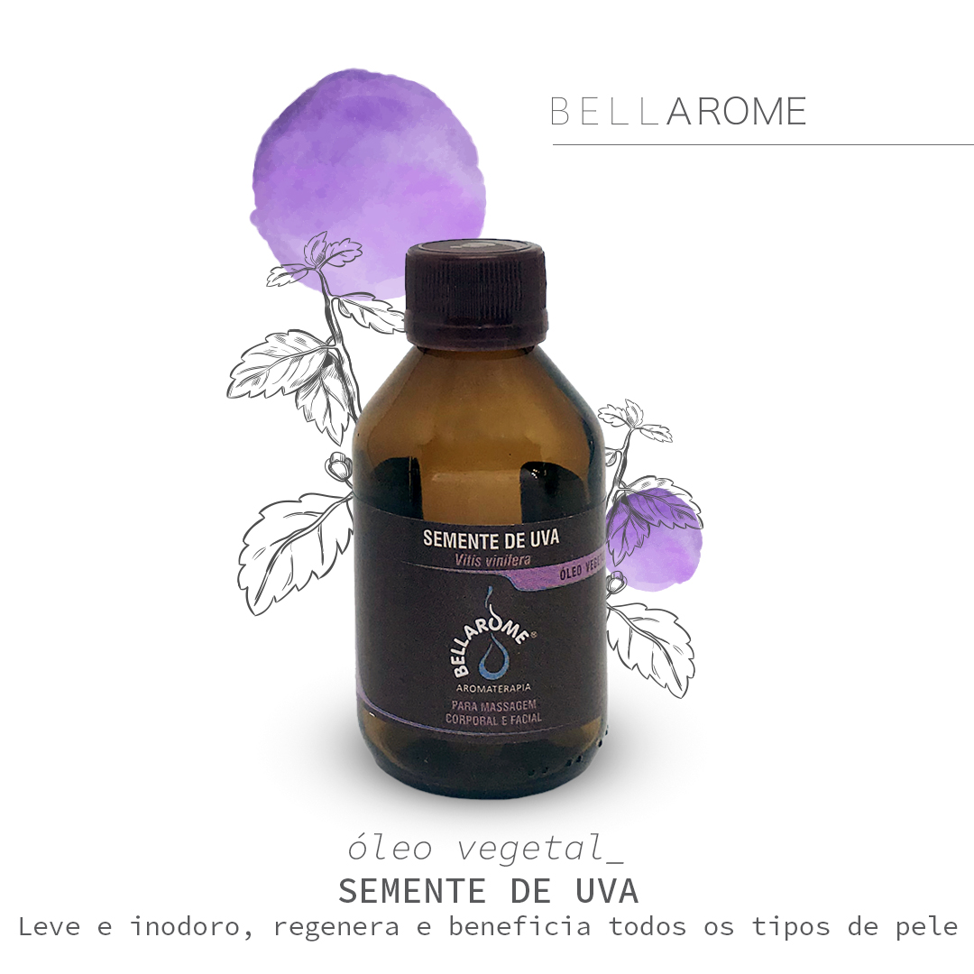 SEMENTE DE UVA - 100ml Óleo Vegetal  - Bellarome Aromaterapia