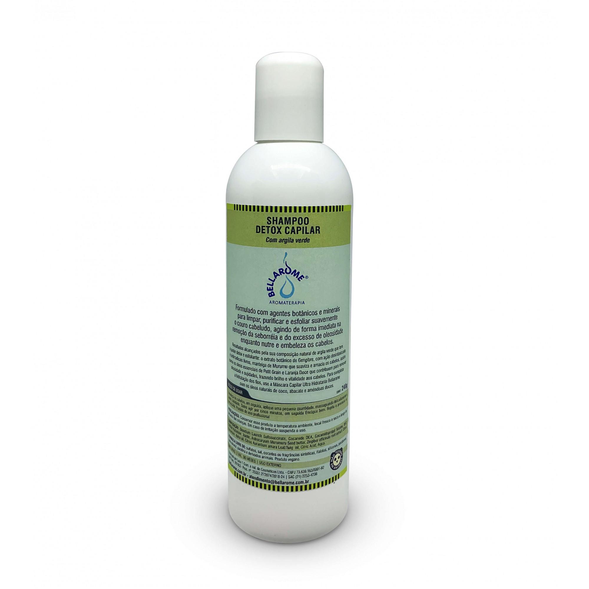 Shampoo Detox Capilar - 240ml  - Bellarome Aromaterapia