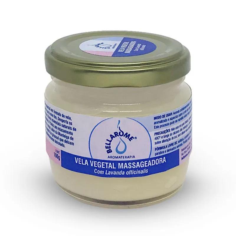 Vela Vegetal Massageadora com Lavanda 100 g  - Bellarome Aromaterapia