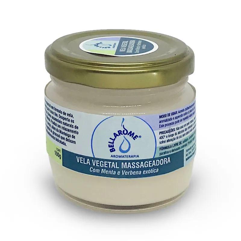Vela Vegetal Massageadora com Menta e Verbena 100 g  - Bellarome Aromaterapia