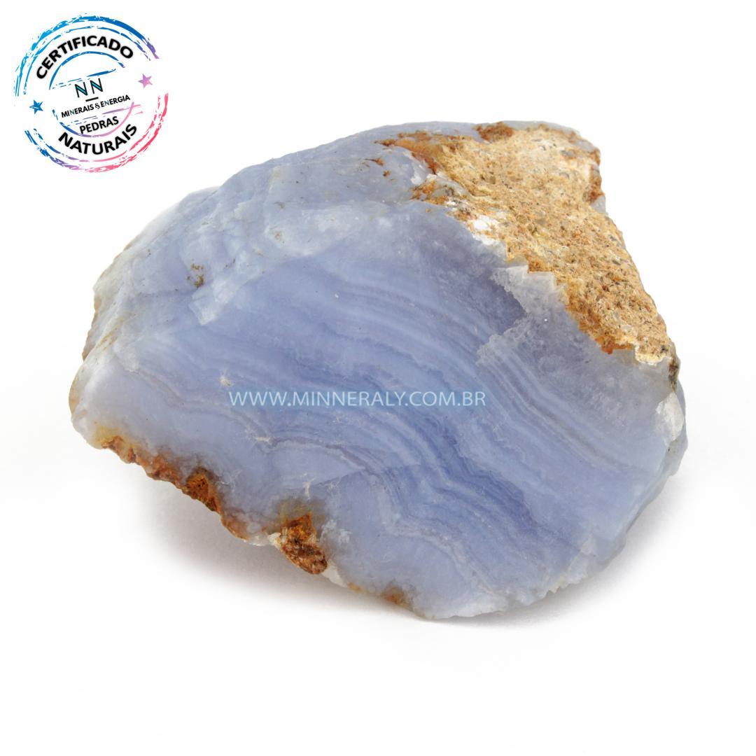 Ágata Bluelace ou Calcedônia in Natura em Bruta (0,144kg; 3,7cm) #NN102