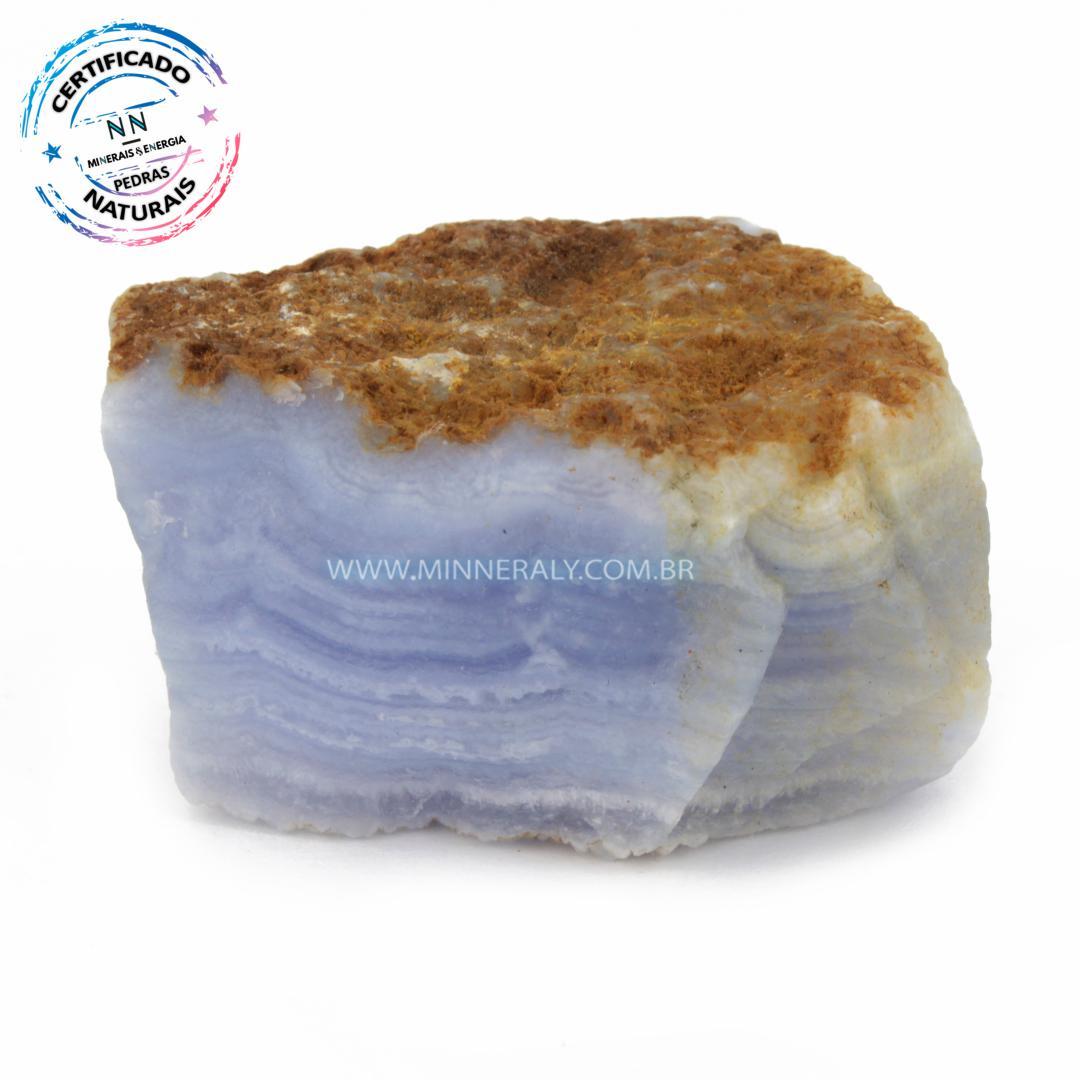 Ágata Bluelace ou Calcedônia In Natura Bruta (0,200kg; 3,7cm) #NN103