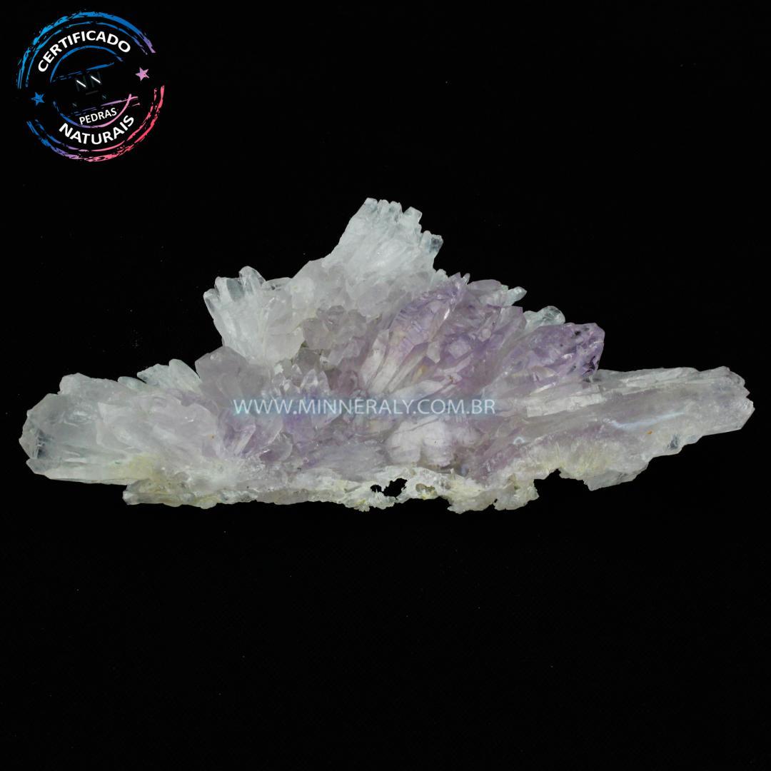 Ametista Lavanda FLOR (calcita FLOR) IN Natura em Bruto (0,144KG; ALT: 2,7CM; COMP: 12,8CM; LARG: 6,2CM)