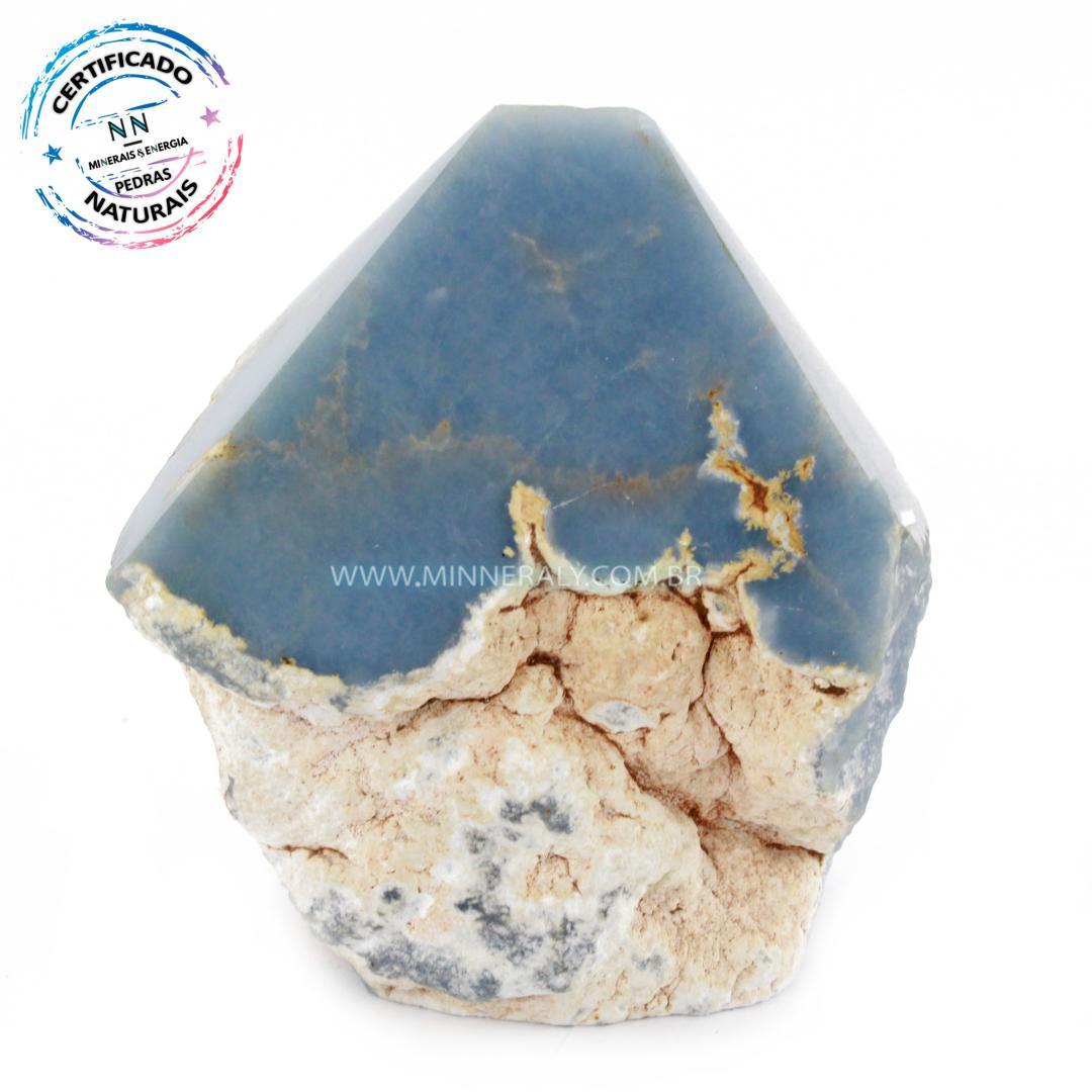 Ponta Geradora de Angelita (Anidrita Azul) in Natura (0,402kg; 8,2cm) #NN140
