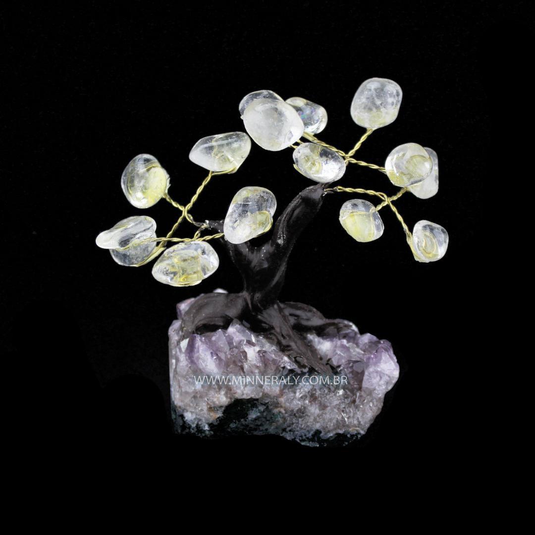 Árvore de Quartzo ou Cristal Branco in Natura (0,350kg; 10,0cm)