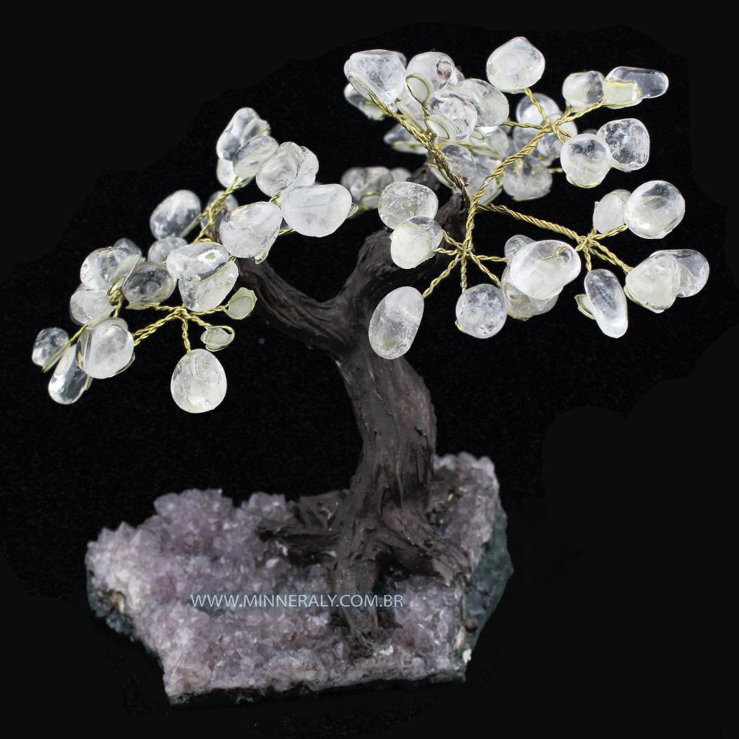 Árvore de Quartzo ou Cristal Branco in Natura (1,000kg; 19,0cm)