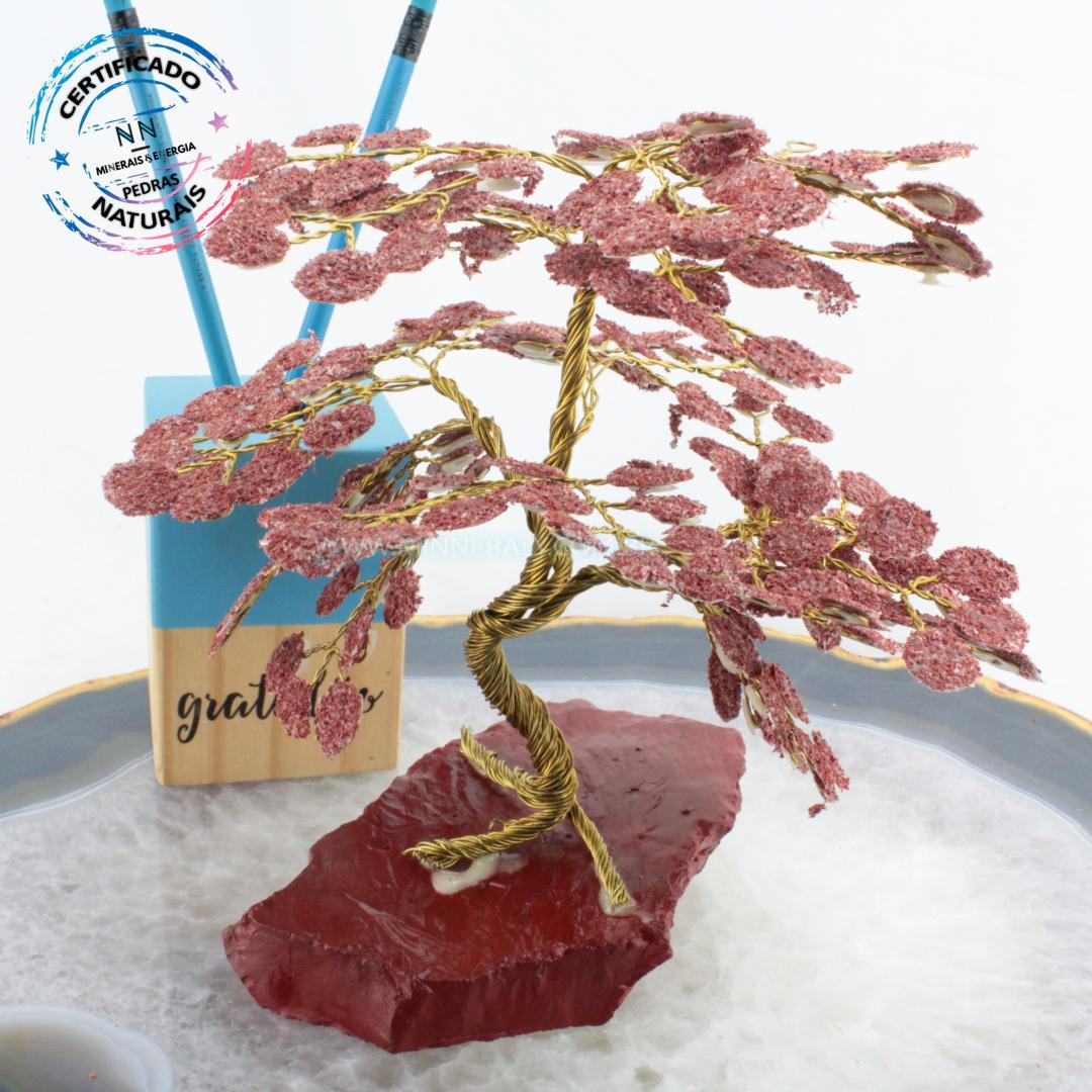 árvore de Jaspe Vermelho IN Natura Bruto (altura: 18,0CM)
