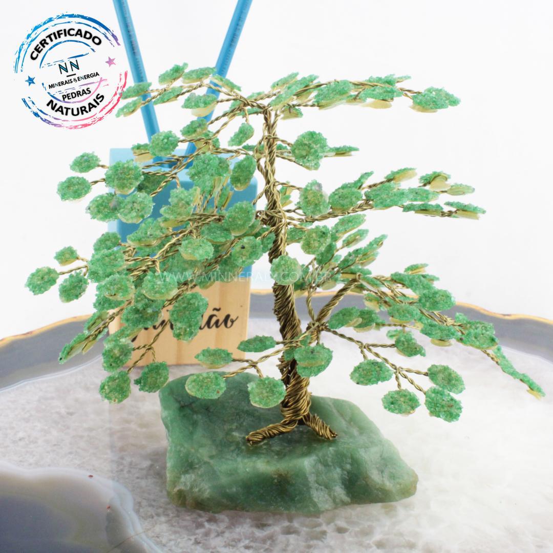 árvore de Quartzo Verde IN Natura Bruta (altura: 17,0CM)
