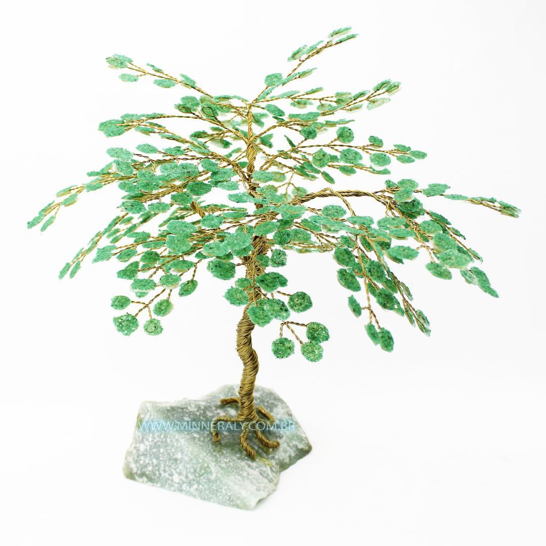 Árvore de Quartzo Verde in Natura (0,900kg; 25,0cm)