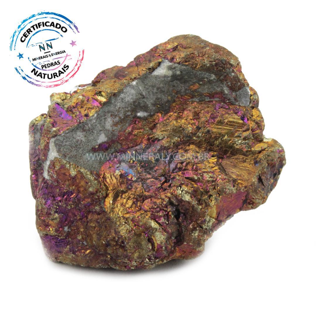 Bornita (pedra Pavao) IN Natura em Bruto (0,120KG; ALT: 4,6CM; COMP: 5,5CM; LARG: 3,2CM)