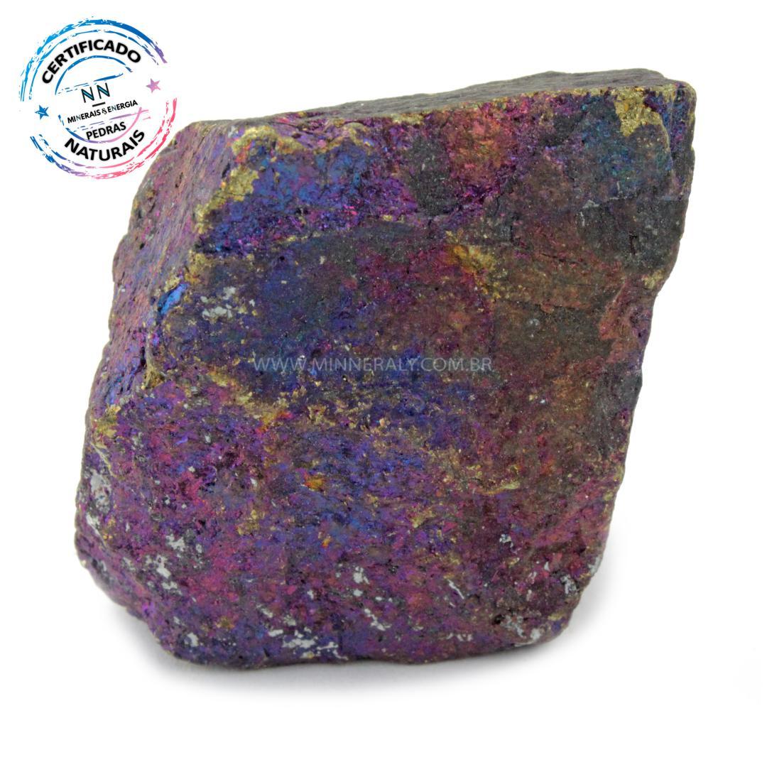 Bornita (pedra Pavão) IN Natura em Bruto (0,164KG; ALT: 4,6CM; COMP: 4,2CM; LARG: 3,1CM)