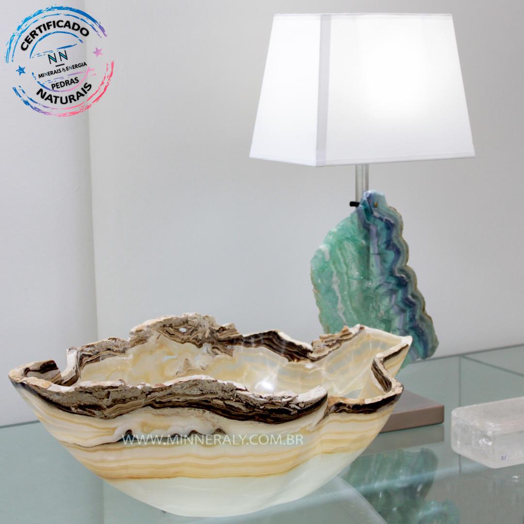 Bowl de Aragonita Zebrada in Natura (10,770kg 17,0cm) #NN102