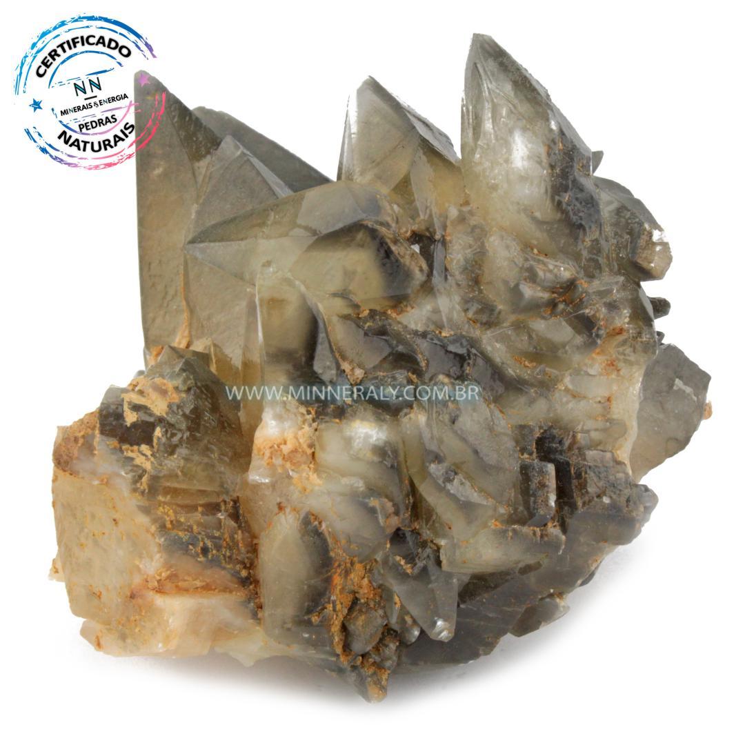 Calcita Raio Estelar (Calcita Dogtooth, Calcita Dente de Cão ou Calcita Dente de Cachorro) in Natura em Bruto (0,600kg; 9,1cm) #NN637