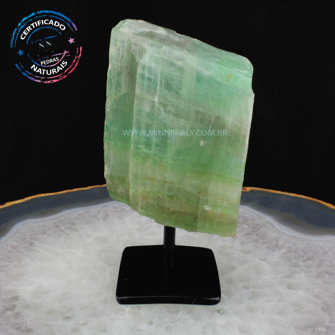 Calcita Verde IN Natura Metal.collection (1,270KG; ALT: 18,1CM; COMP: 9,8CM; LARG: 4,5CM)