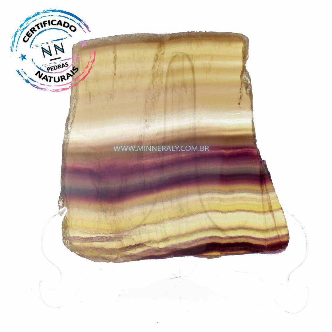 Chapa de Fluorita Dourada Arco-Íris in Natura #NN105
