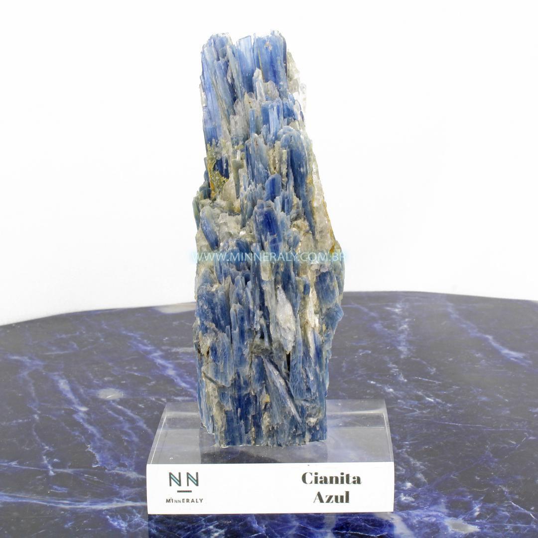 Cianita AZUL (espada do Arcanjo Miguel ou Distenio) IN Natura Clear.collection (0,690KG; ALT: 17,0CM; COMP: 6,5CM; LARG: 9,0CM)
