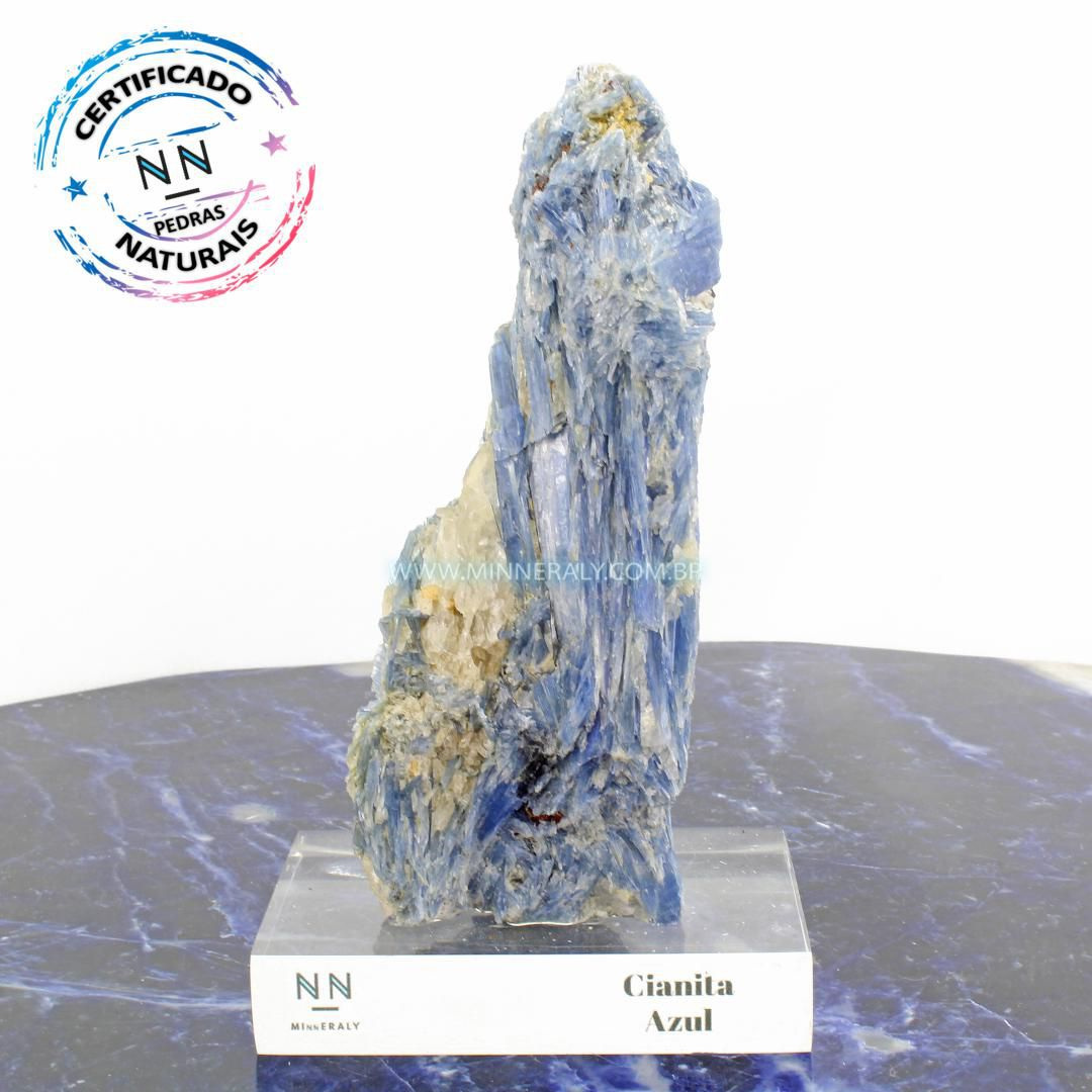 Cianita Azul (Distênio) in Natura Clear.Collection (1,275kg; 19,5cm) #NN113