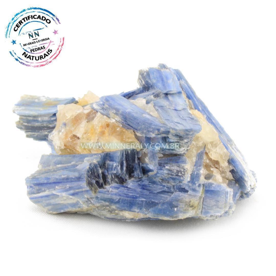 Cianita Azul (Espada do Arcanjo Miguel ou Distênio) com Inclusão de Quartzo ou Cristal Branco in Natura em Bruto (0,4,90kg; 7,5cm) #NN199