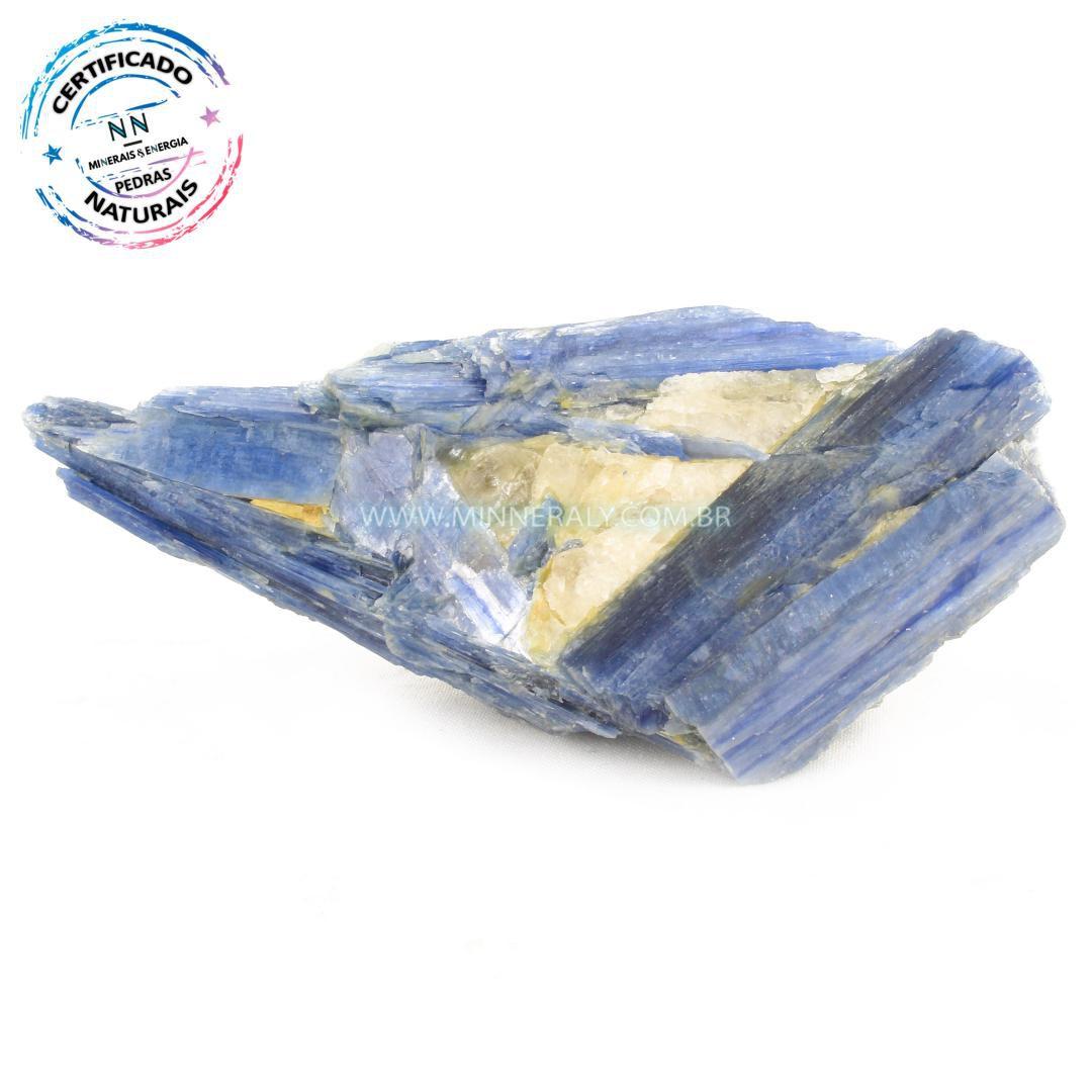 Cianita Azul (Espada do Arcanjo Miguel ou Distênio) com Inclusão de Quartzo ou Cristal Branco in Natura em Bruto (0,678kg; 6,7cm) #NN197