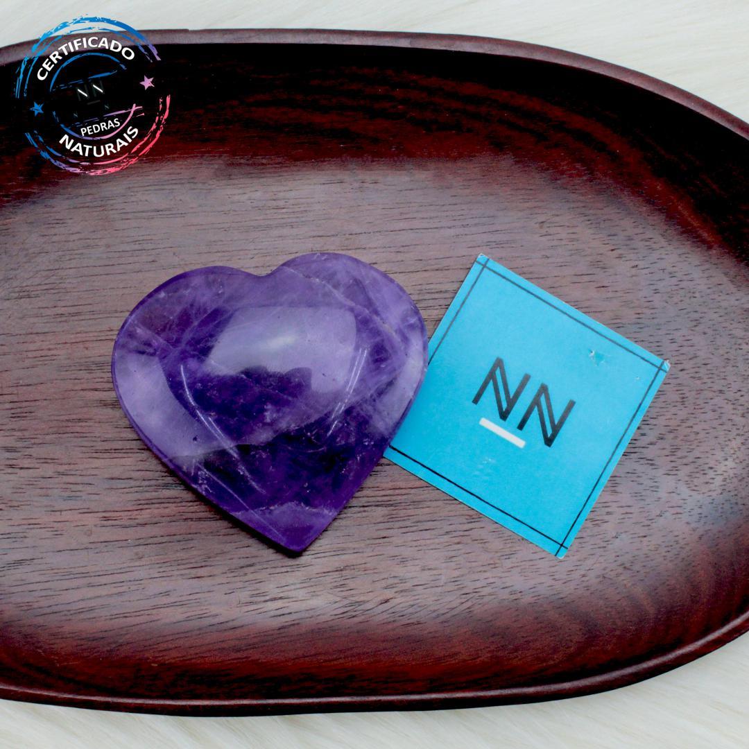 Coração de Ametista in Natura (0,114kg; 3,3cm) #NN104