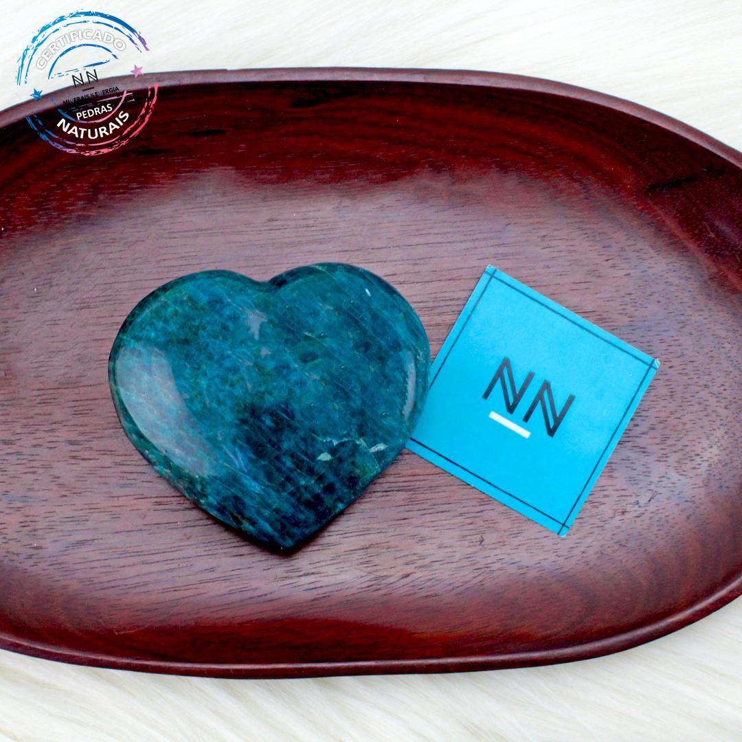 Coração de Apatita Azul in Natura #NN102
