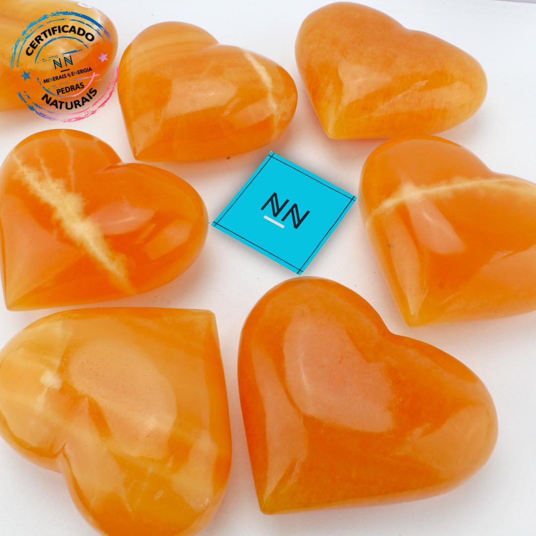 Coração de Calcita Amarela in Natura