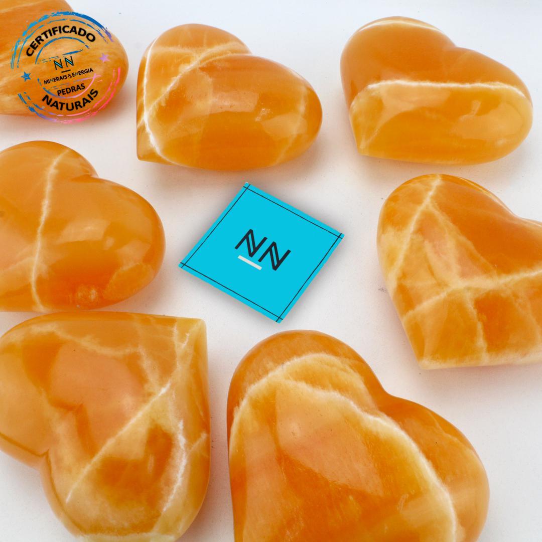 Coração de Calcita Amarela in Natura (0,400kg; 8,0cm)