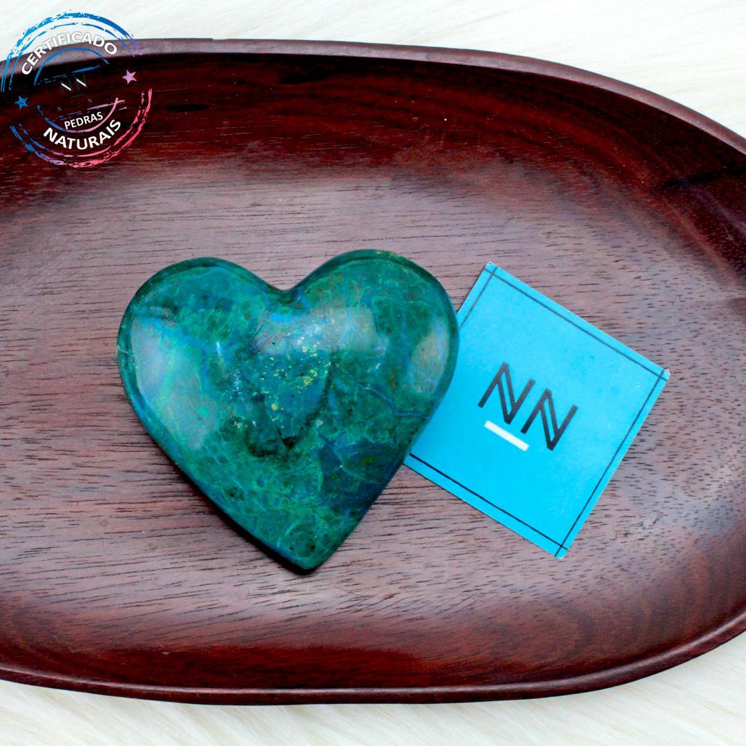 Coração de Crisocola in Natura #NN103