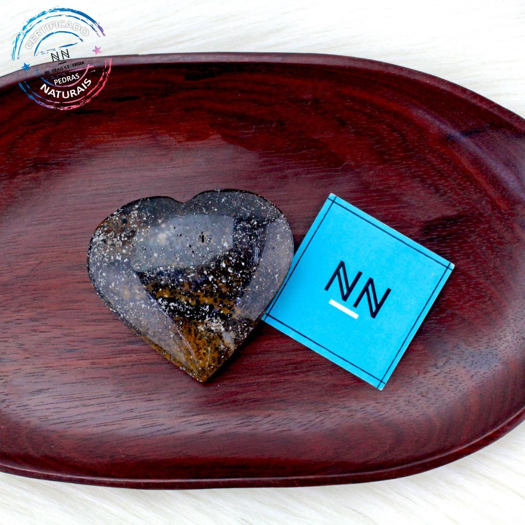 Coração de Dendríta calcedônia in Natura #NN104