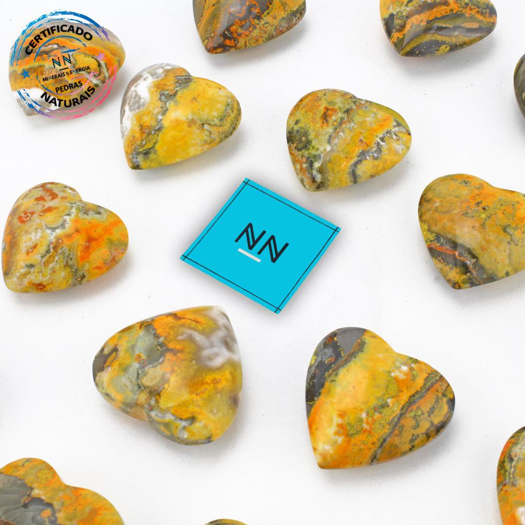 Coração de Pedra do Eclipse (Jaspe Bumblebee ou Mamangaba) in Natura