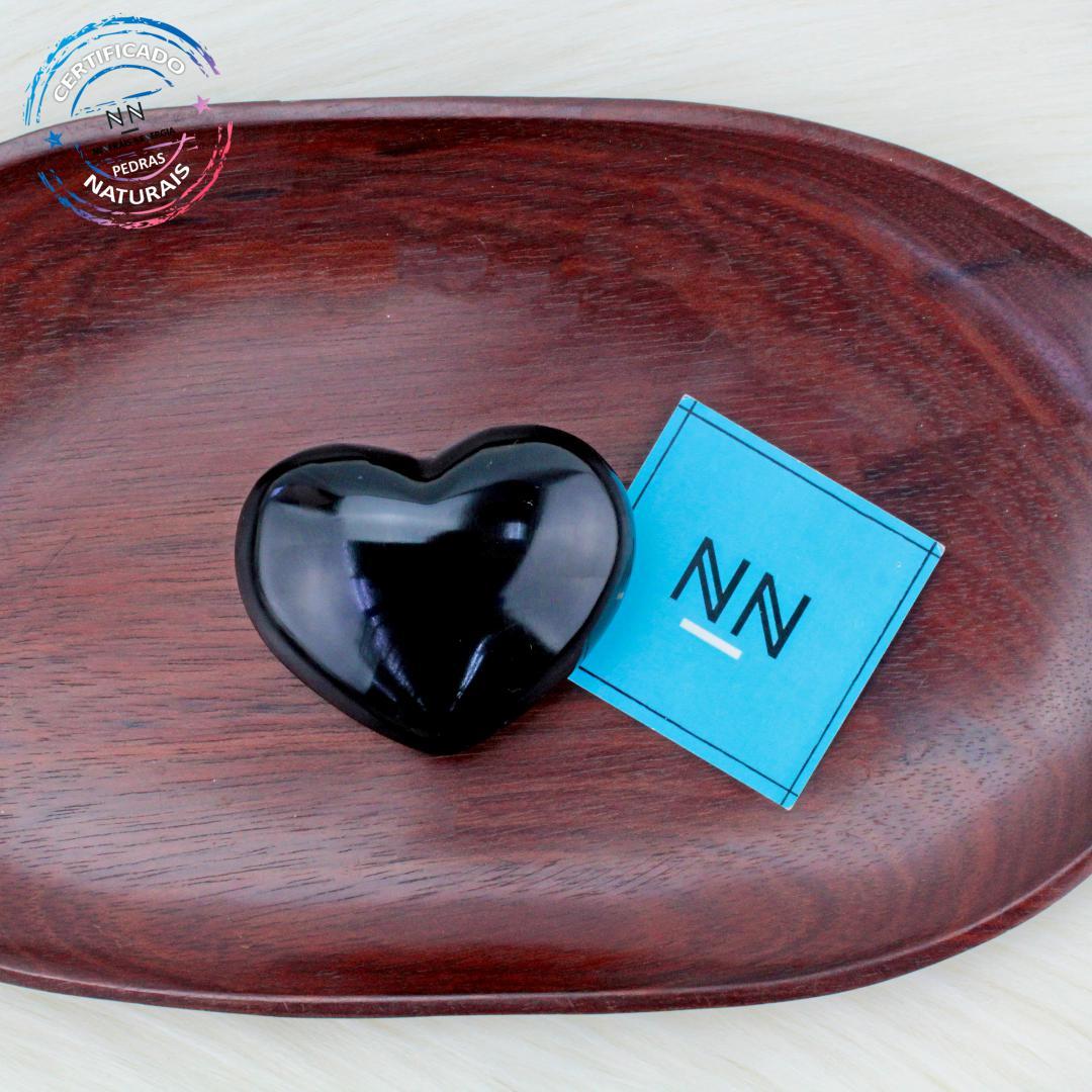 Coração de Obsidiana Preta in Natura #NN102