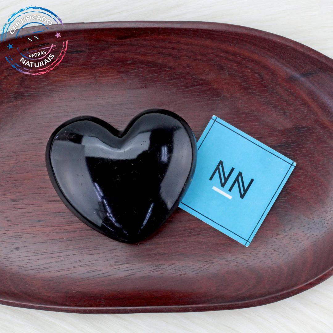 Coração de Obsidiana Preta in Natura #NN101